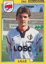 N°087 ERIC ASSADOURIAN LILLE LOSC VIGNETTE PANINI FOOTBALL 92 STICKER 1992