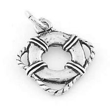 STERLING SILVER 20 PIECES OF LIFE PRESERVER RING CHARMS WHOLESALE