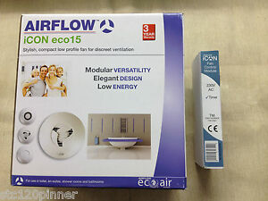 Airflow ICON 15 ECO Extractor Fan with optional Timer.