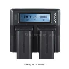 Andoer LCD Display Battery Charger fr Sony NP-F550 F750 F950 NP-FM50 FM500H QM71