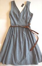 The Limited Outback Red new Soft Denim Dress sz 10 Sleeveless NWT Blue w Belt