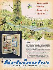 PUBLICITE ADVERTISING 114 1960 KELVINATOR frigidaire