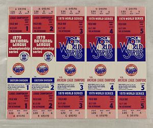 Houston Astros Phantom 1979 NLCS/World Series Tickets - Field Box Level