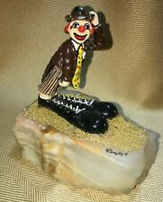 Ron Lee Clown Timothy In Big Shoes Signed/dated 1983  Excellent Fast Shipping