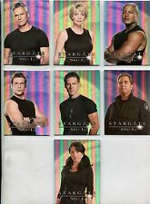 Stargate SG1 Season 9 Complete Cast Posters Chase Card Set CP1-7