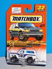 Matchbox 1999 Law & Order Series #32 Chevy Blazer White UNIT 15 MB POLICE