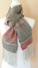 Hand woven lightweight wool scarf