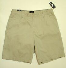 "NWT$45 9.5""L Nautica Deck Shorts Mens tagged 34 ACTUAL=36 Stone Classic Fit Flat"
