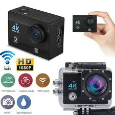 4K 2'' Ultra HD 1080P Sports WiFi Cam Action Camera DV HDMI Video Recorder 16MP