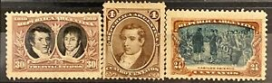 ARGENTINA - DIFFERENT TOPICS - LOT OF 3 MH STAMPS