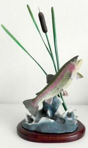 Danbury Mint Rainbow Trout Rising