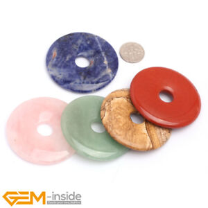 Natural 50mm Gemstone Donuts Loose Beads For Jewellery Making 1 Piece Wholesale