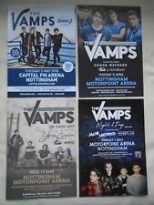 THE VAMPS Live in Concert 2015/16/1718 UK Arena tours Promotional flyers x 4