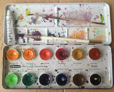 Schmincke | feine Studien- Aquarellfarben - Metallkasten - 12Stück | gebraucht