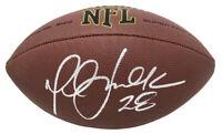 Marshall Faulk (Rams) Signed Wilson Super Grip Full Size NFL Football - SCHWARTZ