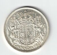CANADA 1941 FIFTY CENTS HALF DOLLAR KING GEORGE VI CANADIAN SILVER COIN