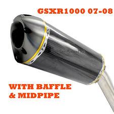 SUZUKI GSXR 1000 K7 OEM Replacement hp Exhaust Muffler Pipe Carbon Fiber