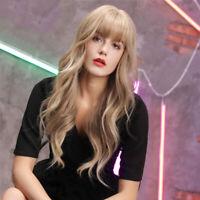 "24"" Fashion Women Long Wavy Wigs Synthetic Curly Hair Cosplay Wig w/ Bangs"