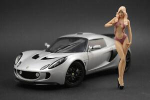 Cleo Show Girl Figure for 1:18 Lamborghini Aventador LB AUTOart  !! NO CAR !!