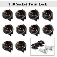10X T10 Socket Twist Lock Plug Instrument Dashboard Panel Light Bulb 192 168