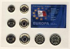 MALTA - EURO 3,88 KMS 2008 vergoldet - 24 KARAT mit ZERTIFIKAT - ANSCHAUEN