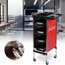 High Quality Salon Rolling Trolley Mobile Hairdressing Cart Storage W/ 4 Drawers