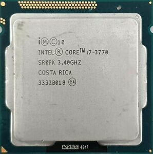 Intel Core I7-3770 3.40GHz Up To 3.9GHz Quad Core CPU Processor