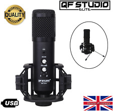 QF Studio Elite USB Microphone Kit with Pro Shock-mount, Tripod & Echo SFX