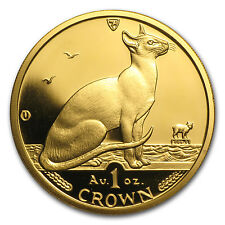 1992 Isle of Man 1 oz Gold Siamese Cat BU - SKU #85803