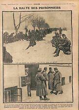 Prisonniers Feldgrauen Route de Lemberg General Hubert Austria Army   WWI 1915