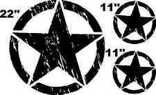 Set (3) Decal sticker For Jeep Wrangler RUBICON Army Star USMC part emblem kit