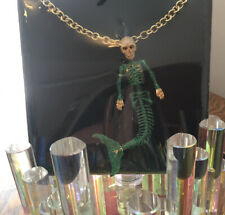 Butler and Wilson GREEN Glitter MERMAID SKELETON Chain  Necklace NEW & SEALED!