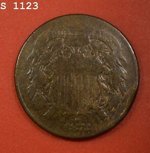 """1872 Two-Cent Piece """"VG/F"""" *Free S/H After 1st Item*"""