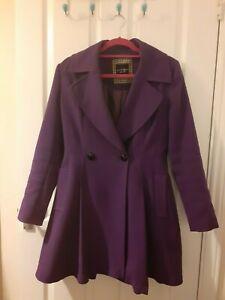 Principles by Ben de Lisi women coat purple size UK 10