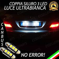 COPPIA LUCI TARGA A LED MERCEDES CLASSE E W211 SILURO C5W CANBUS NO ERROR