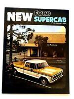 1974 Ford Supercab Pickup Truck Original Sales Brochure Folder