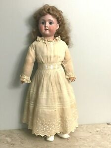 """24"""" Character Child Doll Made in Germany 63 Bisque Head Wood Body"""