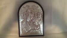 GRECIAN STERLING ICON OF MOTHER AND CHILD 12 1/5 '' TALL