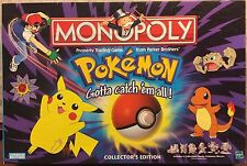 POKEMON MONOPOLY Collector Edition NEW Sealed Board Game VERY RARE Pewter Pieces