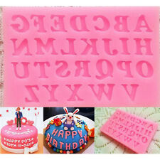 Buchstaben Alphabet Zahlen SILIKON AUSSTECHER Ausstechform Kuchen Mold