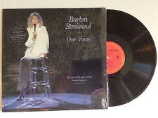 BARBRA STREISAND One Voice Original vinyl LP 1987 COLUMBIA w/ hype sticker MINT