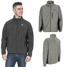 Mens Trespass Jynx Heavyweight Full Zip Fleece Jacket with Rib Effect