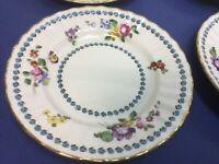 Vtg Set of 4 Gold-Rimmed Royal Worcester Cordelia Bone China Bread/ Butter Plate