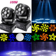 2PCS 100W Gobo DMX RGBW 4IN1 Moving Head Pattern Stage Lighting Lights DJ Party