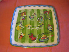 "11"" Serving Plate/Tray/Platter - Becky Denny - phrases"