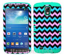 KoolKase Hybrid Cover Case for Samsung Galaxy S4 Active - Chevron Wave 29
