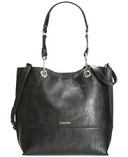 Calvin Klein Reversible Tote with Pouch, Black/Grey, was $148