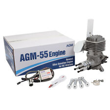 Genius AGM55 Gas Gasoline Engine 55cc+CDI Ignition Muffler VS DLE55 for RC Plane