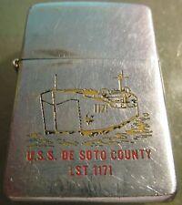 Vintage  NAVY 1961 ZIPPO lighter U.S.S. DE SOTTO COUNTY LST 1171 PAT 2517191