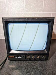 Vintage CRT Black & White Hitachi 9'' Video Monitor Model VM-910E - Working